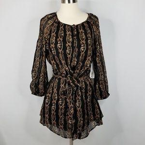 🆕️ Amuse Society long sleeved patterned dress
